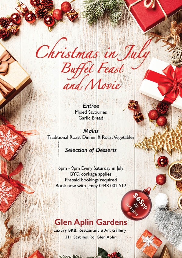 Christmas In July Movie.Christmas Dinner In July With A Movie Granite Belt Wine Country
